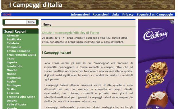 home campeggi italia